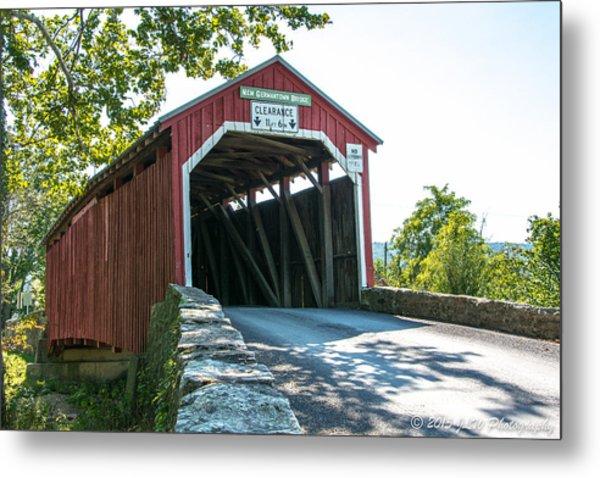New Germantown Covered Bridge Metal Print