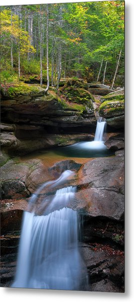 New Hampshire Sabbaday Falls Panorama Metal Print