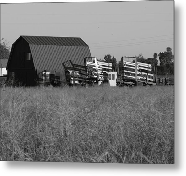 New Holland Bale Wagons Metal Print by Troy Montemayor