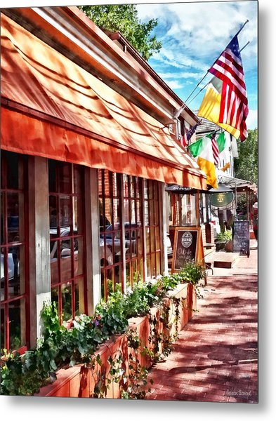 New Hope Pa - Outdoor Seating Now Open Metal Print