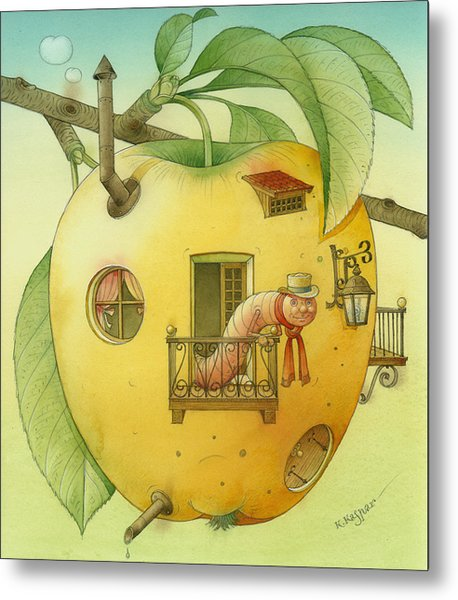 New House Metal Print by Kestutis Kasparavicius