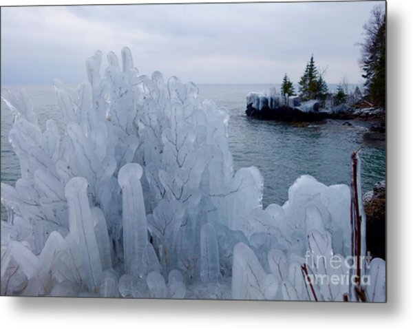 New Ice On Lake Superior Metal Print