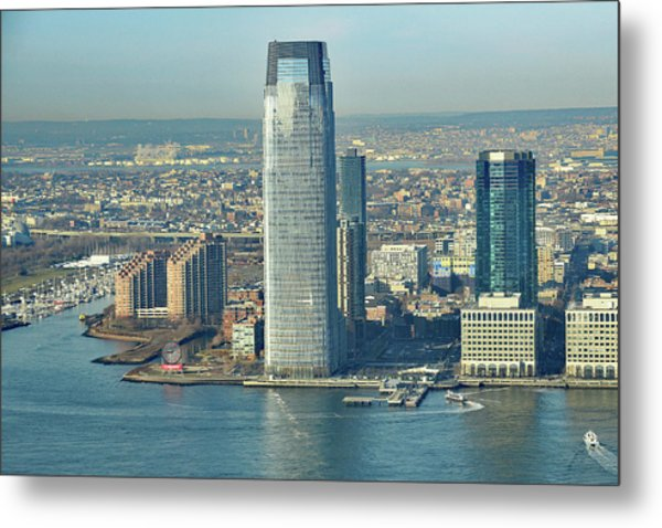 New Jersey Skyline Metal Print