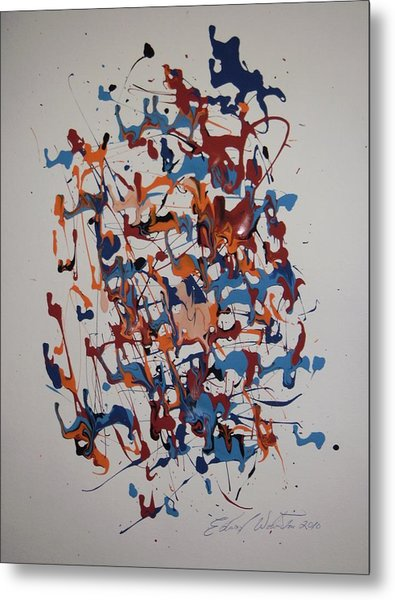 New Life In The Womb Metal Print by Edward Wolverton