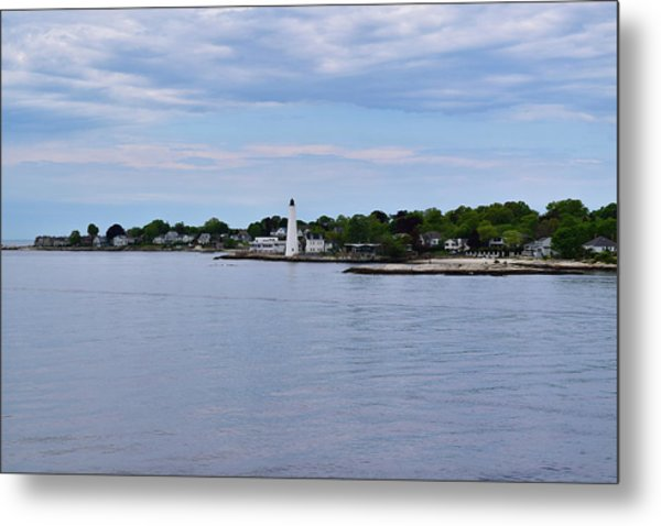 New London Harbor Lighthouse Metal Print