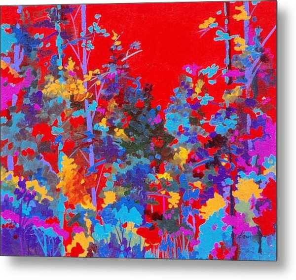 New Mexico Woods Metal Print