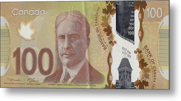 New One Hundred Canadian Dollar Bill Metal Print