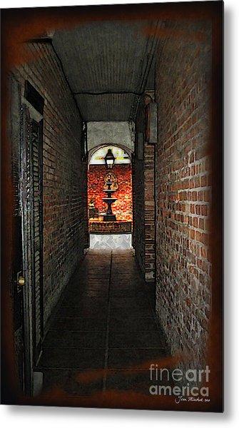 New Orleans Alley Metal Print