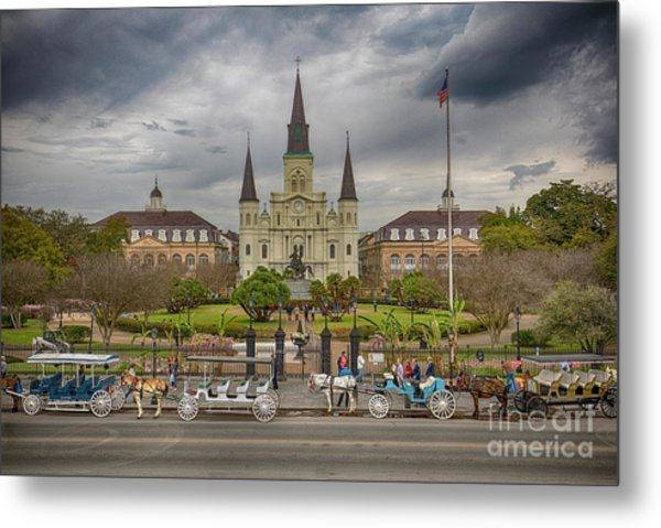 New Orleans Jackson Square Metal Print