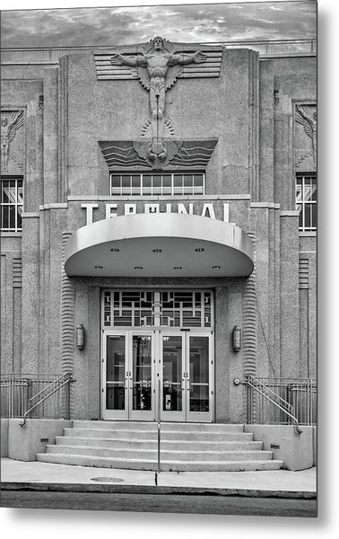 New Orleans Lakefront Airport Bw Metal Print