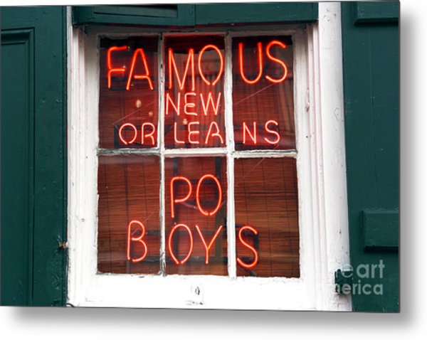 New Orleans Po Boys Metal Print