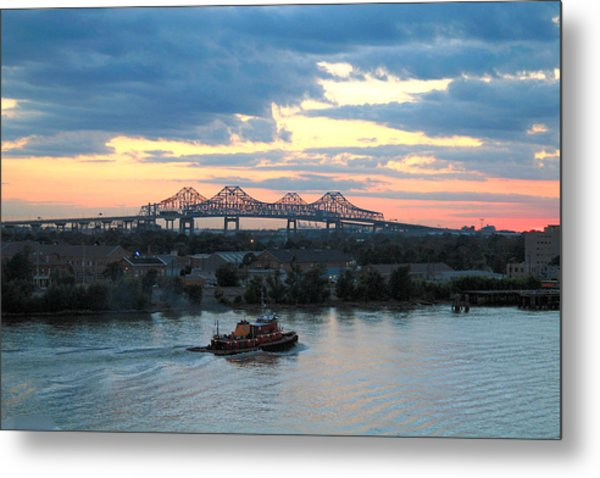 New Orleans Riverfront Metal Print