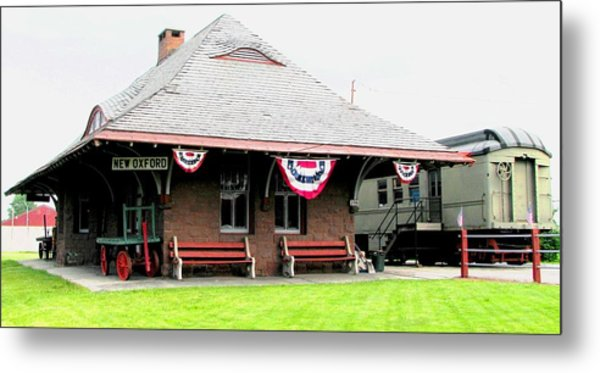 New Oxford Pennsylvania Train Station Metal Print