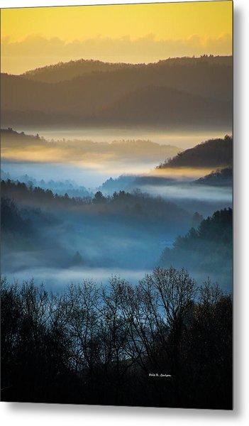 New River Fog Metal Print