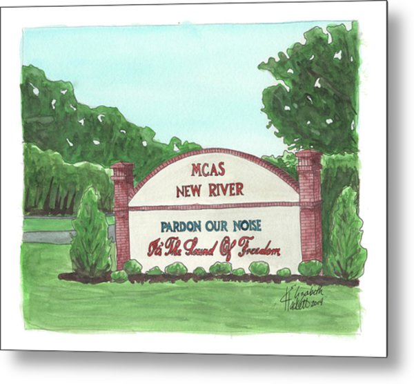 New River Welcome Metal Print