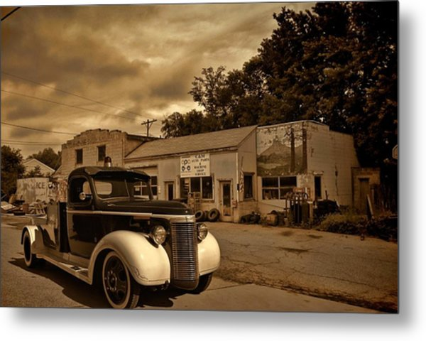 New Shop Tow Truck Metal Print