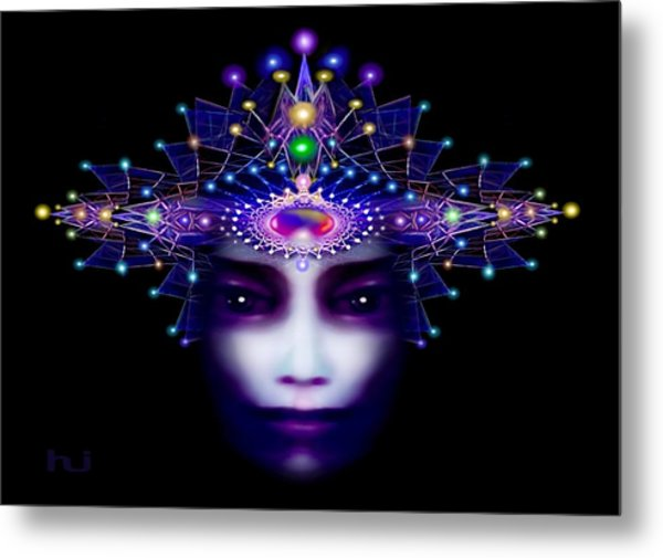 Metal Print featuring the painting Celestial  Beauty by Hartmut Jager