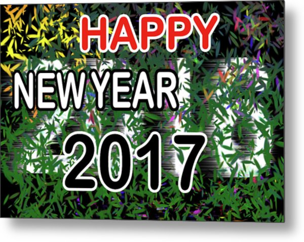 New Year Metal Print