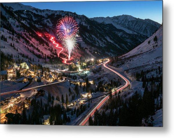 New Year's Eve At Snowbird Metal Print