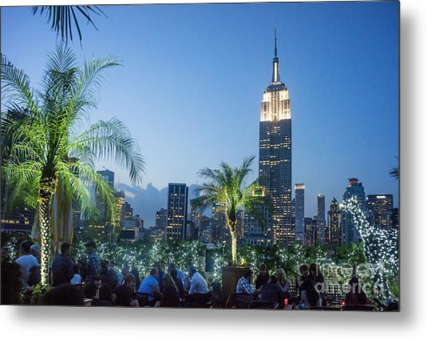 Metal Print featuring the photograph New York 230 Fith Rooftop Bar  by Juergen Held