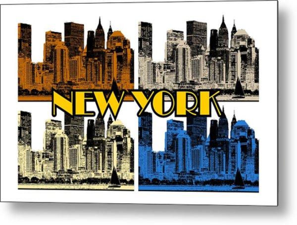 New York 4 Color Metal Print