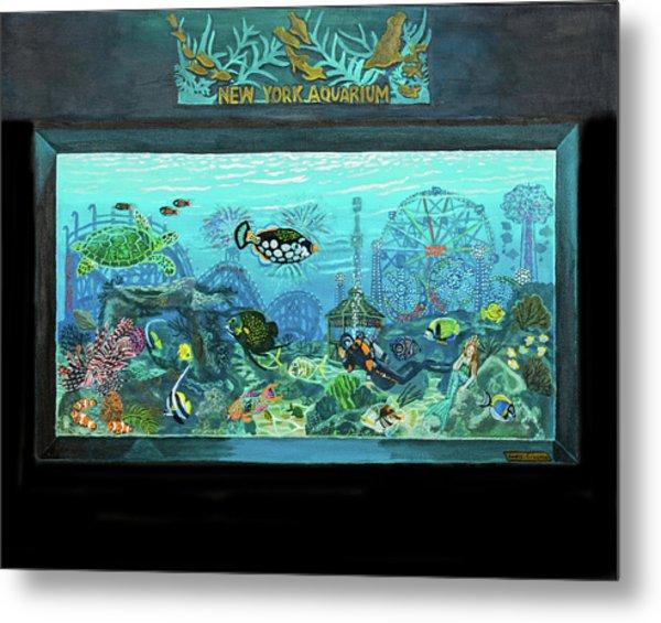 New York Aquarium Metal Print