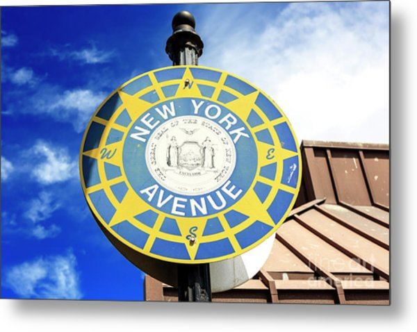 New York Avenue Atlantic City Metal Print by John Rizzuto