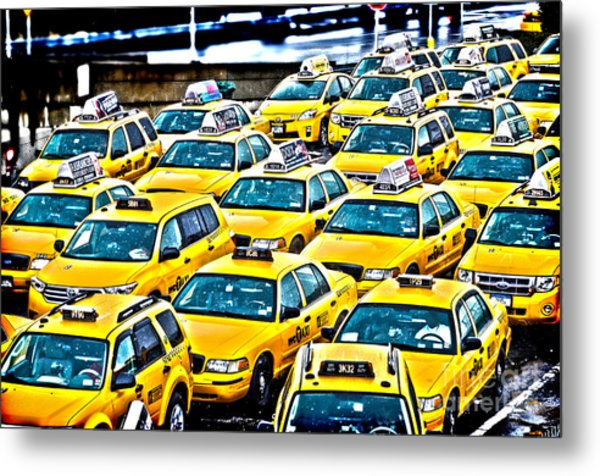 New York Cab Metal Print by Alessandro Giorgi Art Photography