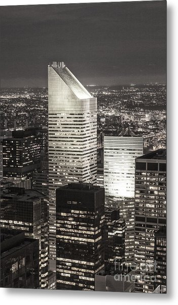 Metal Print featuring the photograph New York Citigroup Center  by Juergen Held