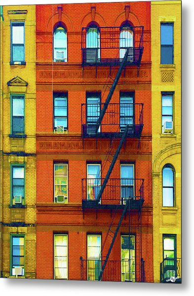New York City Apartment Building 2 Metal Print
