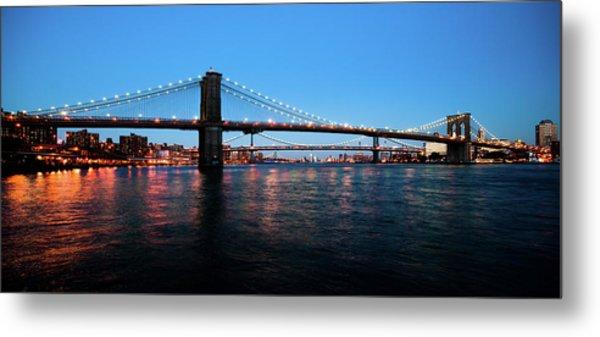 New York City Bridges Metal Print