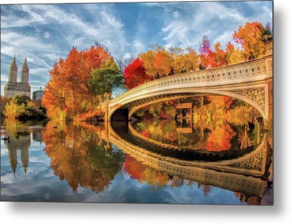 New York City Central Park Bow Bridge Metal Print
