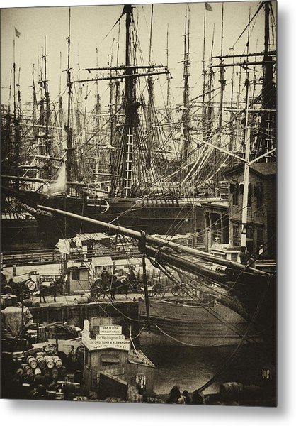 New York City Docks - 1800s Metal Print