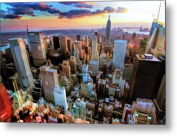 New York City Downtown Manhattan Metal Print