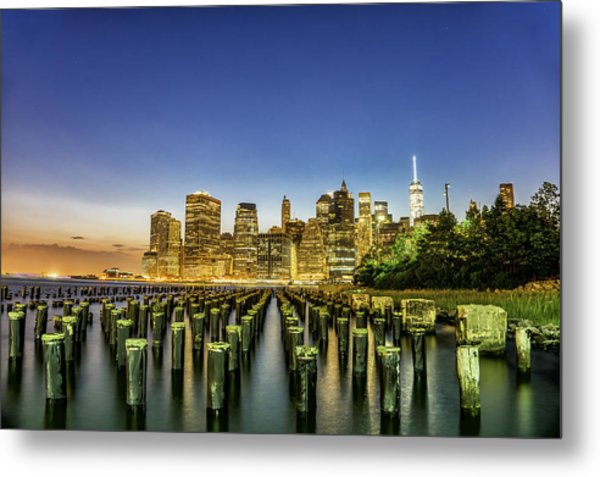 New York City From Brooklyn Metal Print