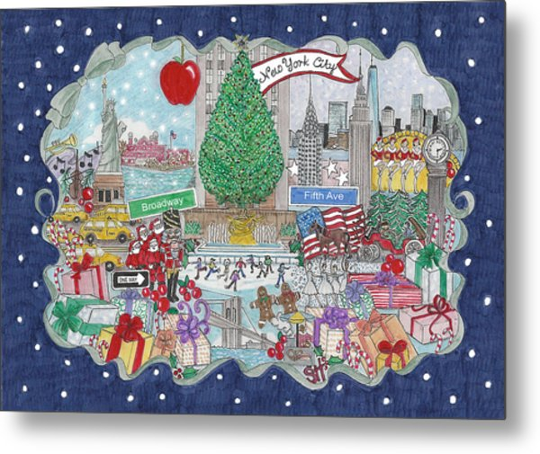New York City Holiday Metal Print