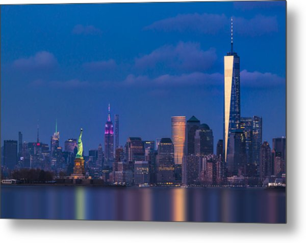 Metal Print featuring the photograph New York City Icons by Susan Candelario