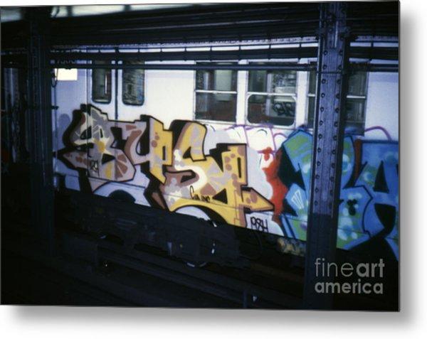 New York City Subway Graffiti Metal Print