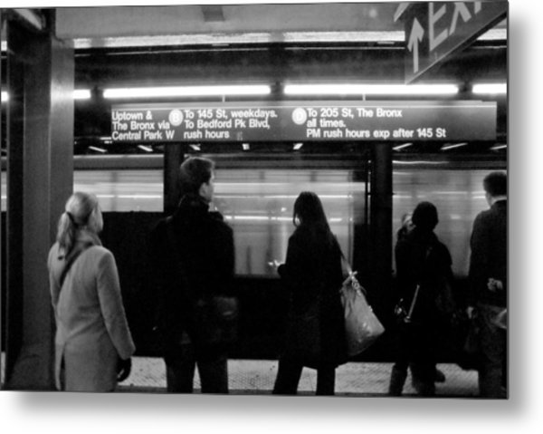 New York City Subway Metal Print by Patrick  Flynn
