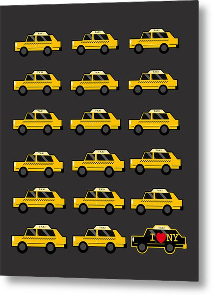 New York City Taxi Metal Print