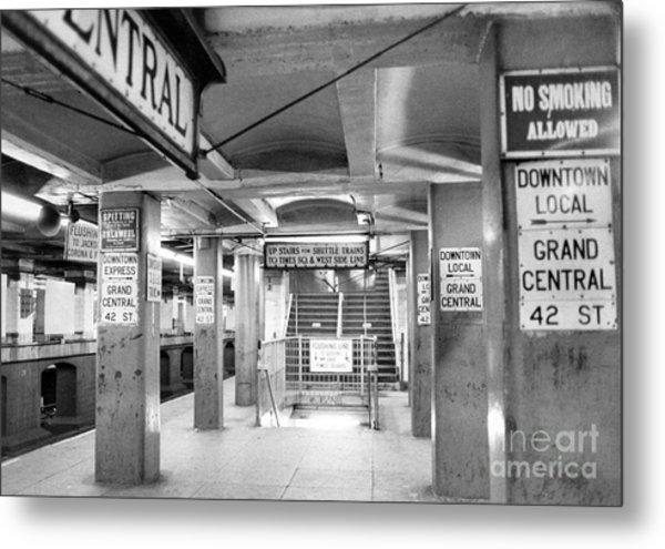 New York City Transit Strikes Leaves Grand Central Station Bare. 1980 Metal Print by William Jacobellis