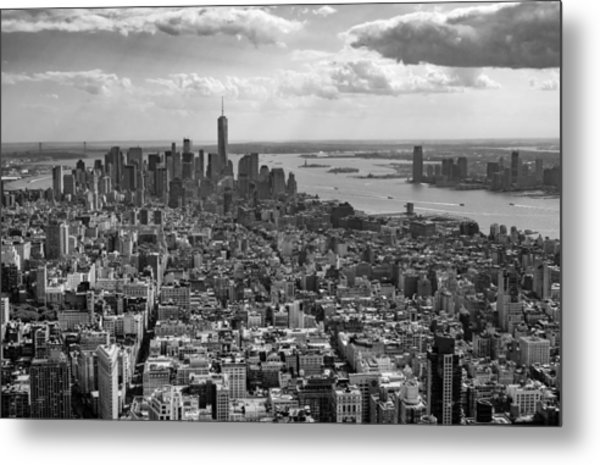 New York City - View From Empire State Building Metal Print
