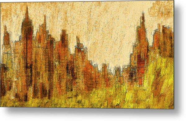 New York City In The Fall Metal Print