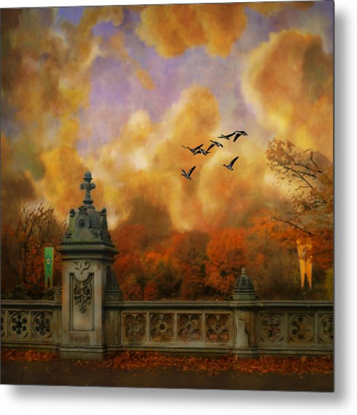 New York Fall - Central Park Metal Print by Jeff Burgess