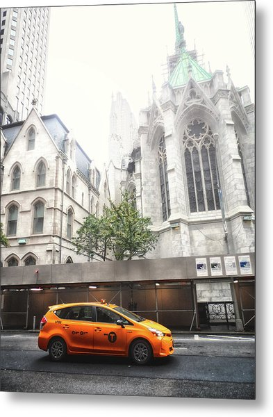 New York Fog Metal Print