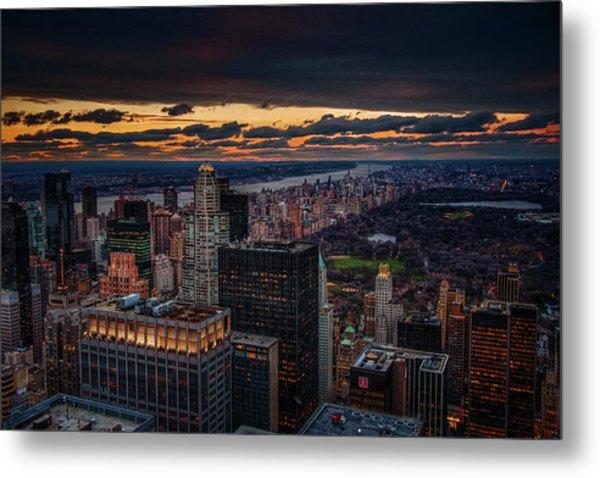 New York Gold Metal Print