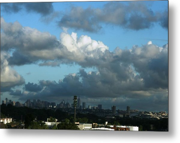 New York In The Distance  Metal Print by Paul SEQUENCE Ferguson             sequence dot net