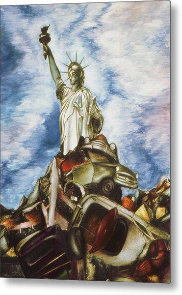 New York Liberty 77 - Fantasy Art Painting Metal Print