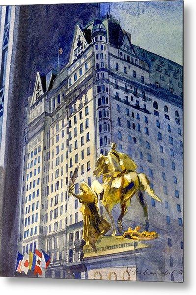 New York  Plaza Hotel Metal Print