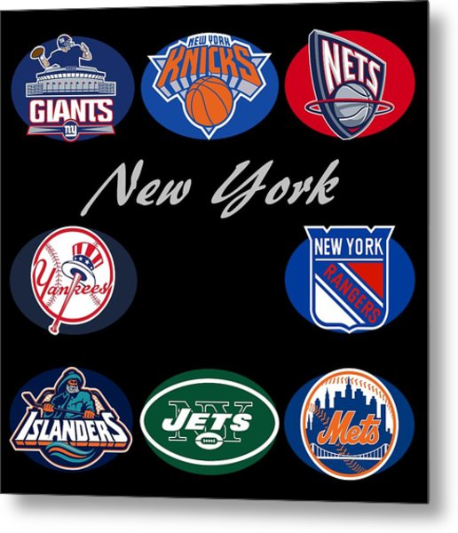 New York Professional Sport Teams Collage  Metal Print